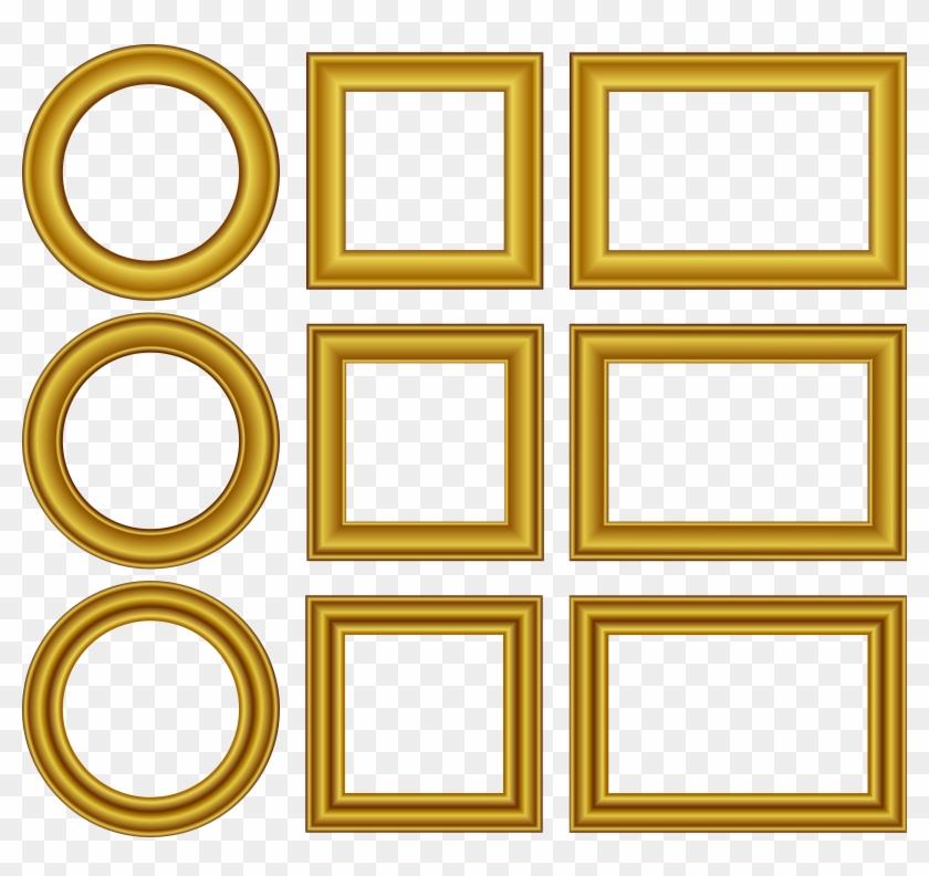 Clip Art Details - Frame Gold Free Vector #126685