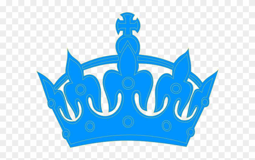 Blue Crown Clip Art - King Crown Vector Blue #126874
