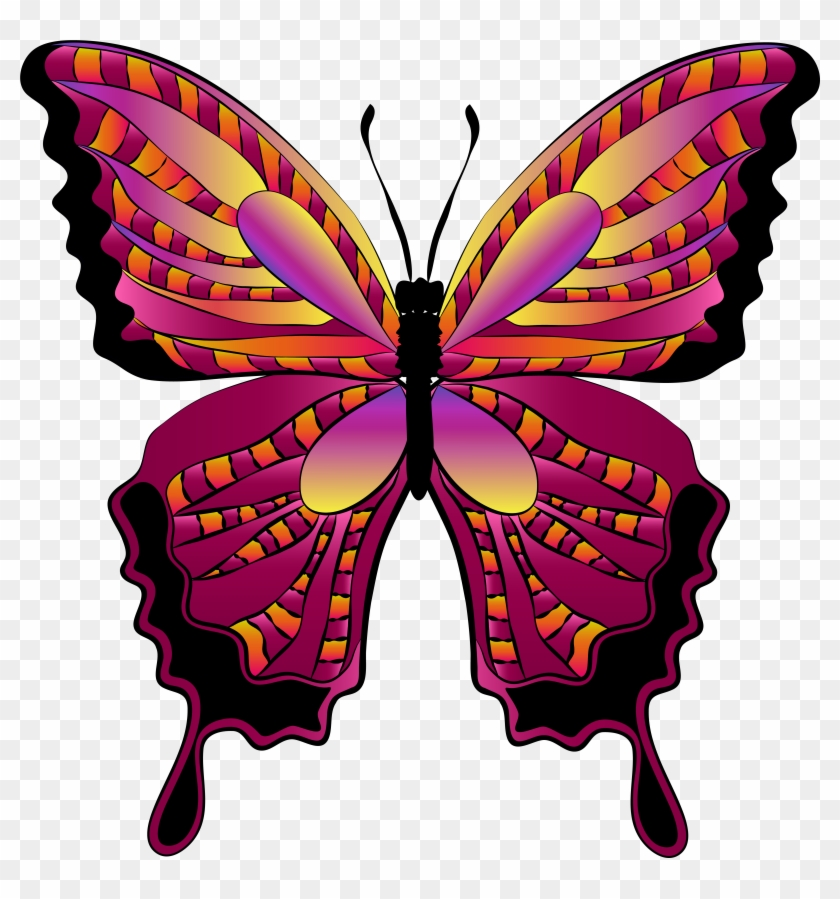Red Butterfly Clipart Image - Butterfly Clipart #127097