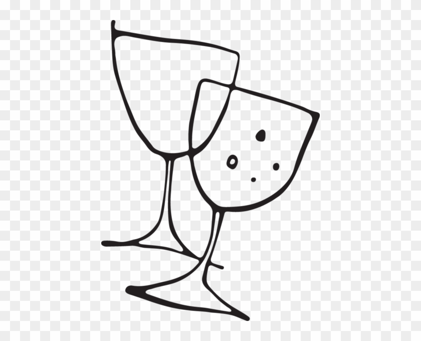 Vector Eps Clipart, Wine Or Champagne Glasses Copyright - Vector Eps Clipart, Wine Or Champagne Glasses Copyright #127090