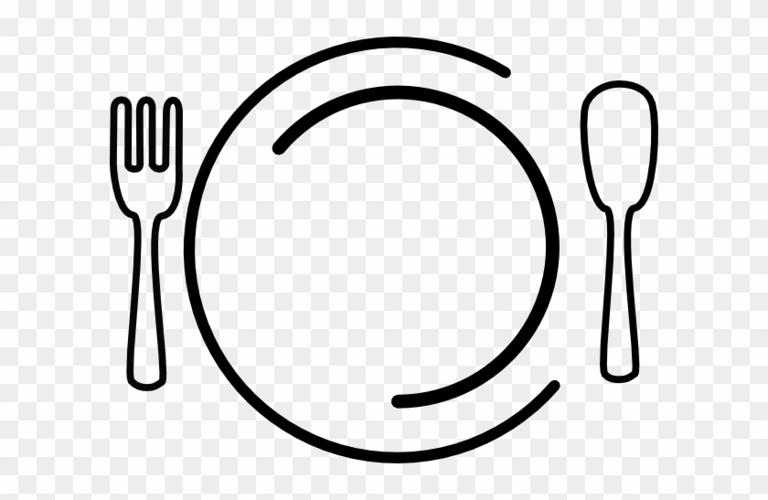 No Background, Black Clip Art - Spoon And Fork #127166