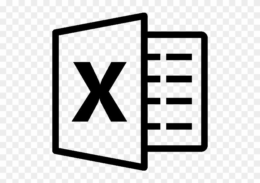 pixel microsoft excel logo black and white