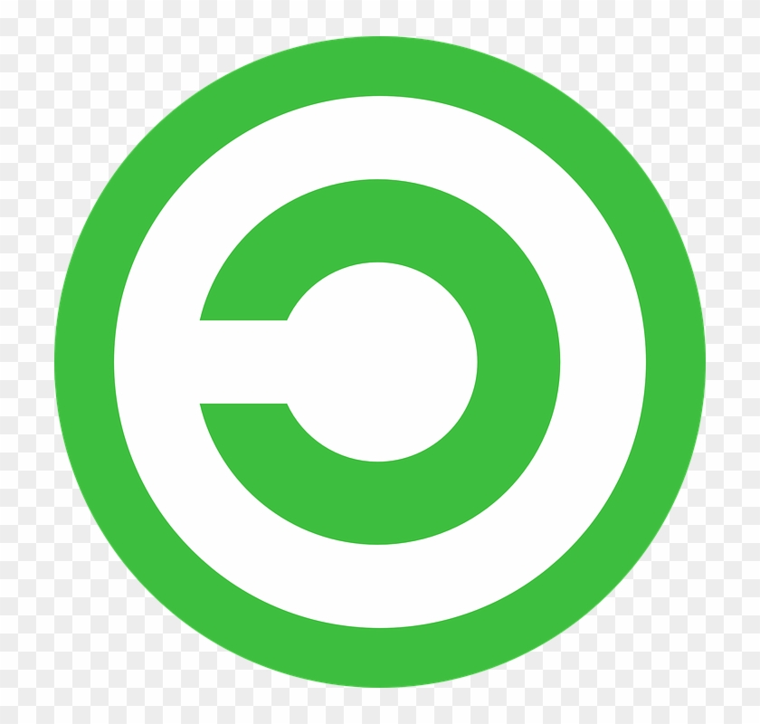 Copyright Inverse Copyrighted Circle Green Icon - Info Icon Png Green #127384
