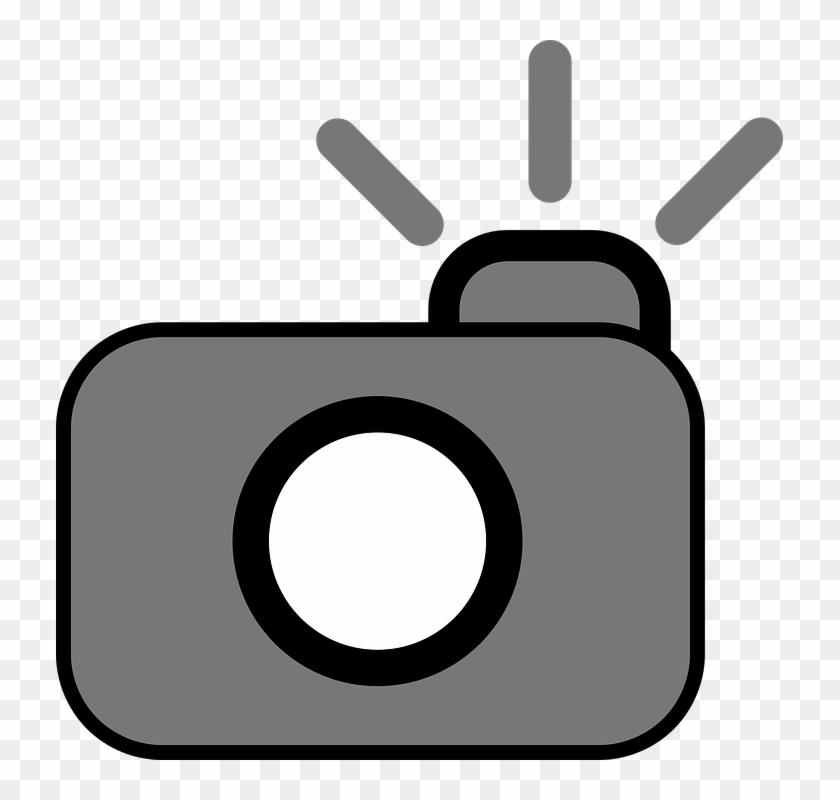 Camera Photography Cam Flash Symbol - Camera Clip Art #127392