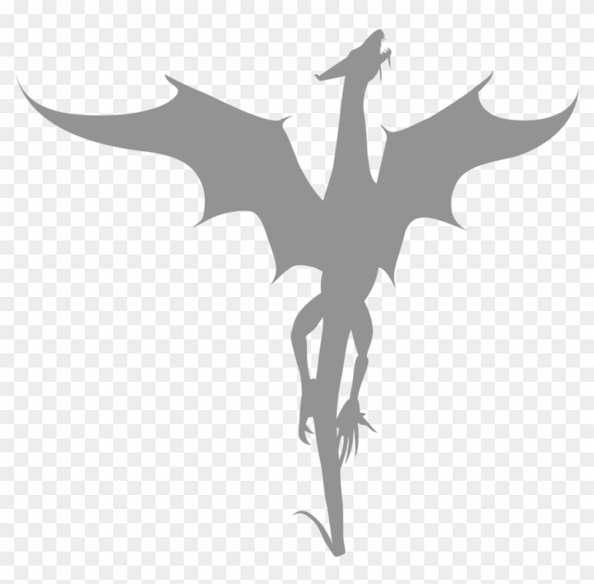 Vector Dragon Silhouette By Watyrfall On Deviantart - Transparent Dragon Silhouette #127446