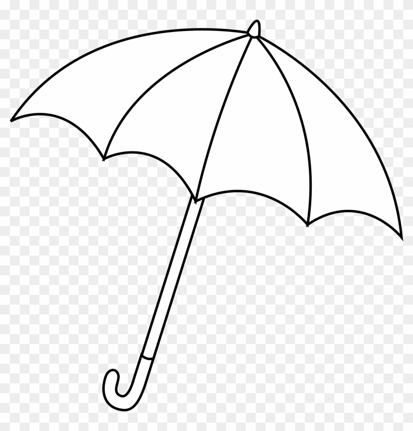 Umbrella Outline Clipart Images Pictures - White Umbrella Black Background #127564