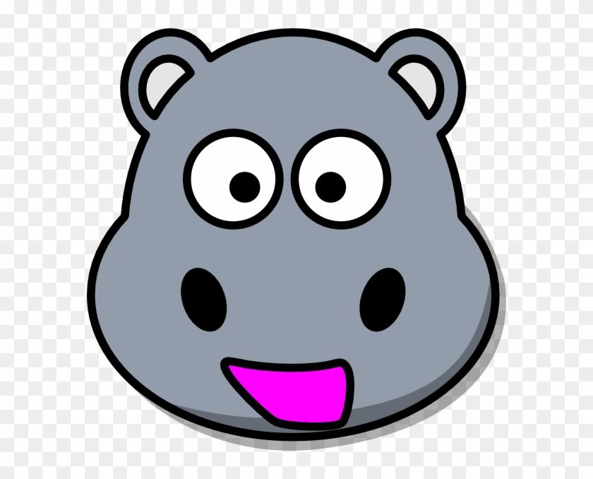 Hippo Head Clip Art At Clker - Cartoon Hippo #127654