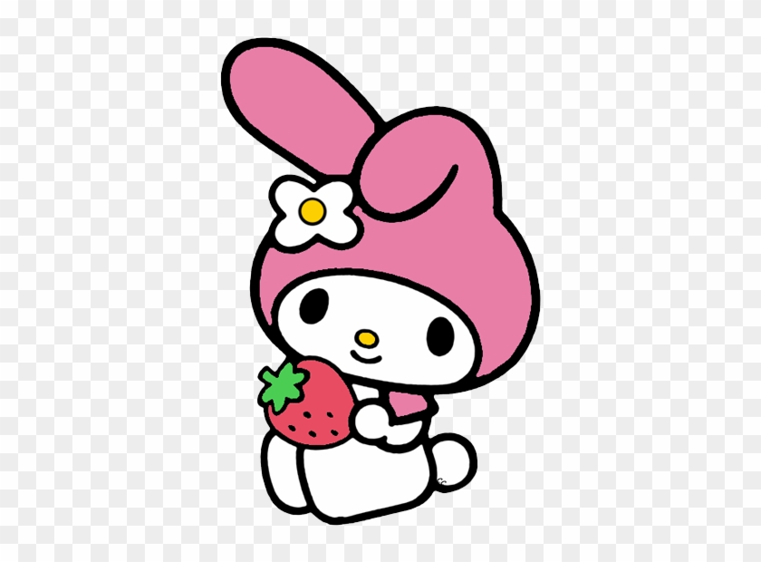 My Melody Holding A Strawberry - My Melody Clipart #127679