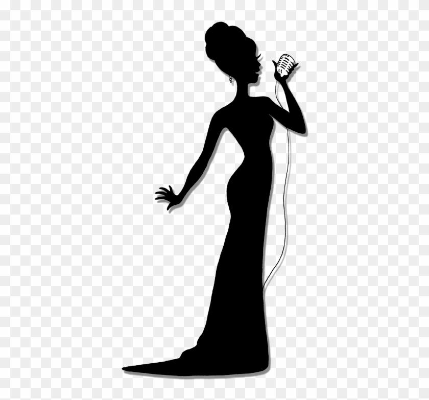 Female Silhouette Singers Bing Images Digi Scraps Pngs - Singing Woman Silhouette #127777