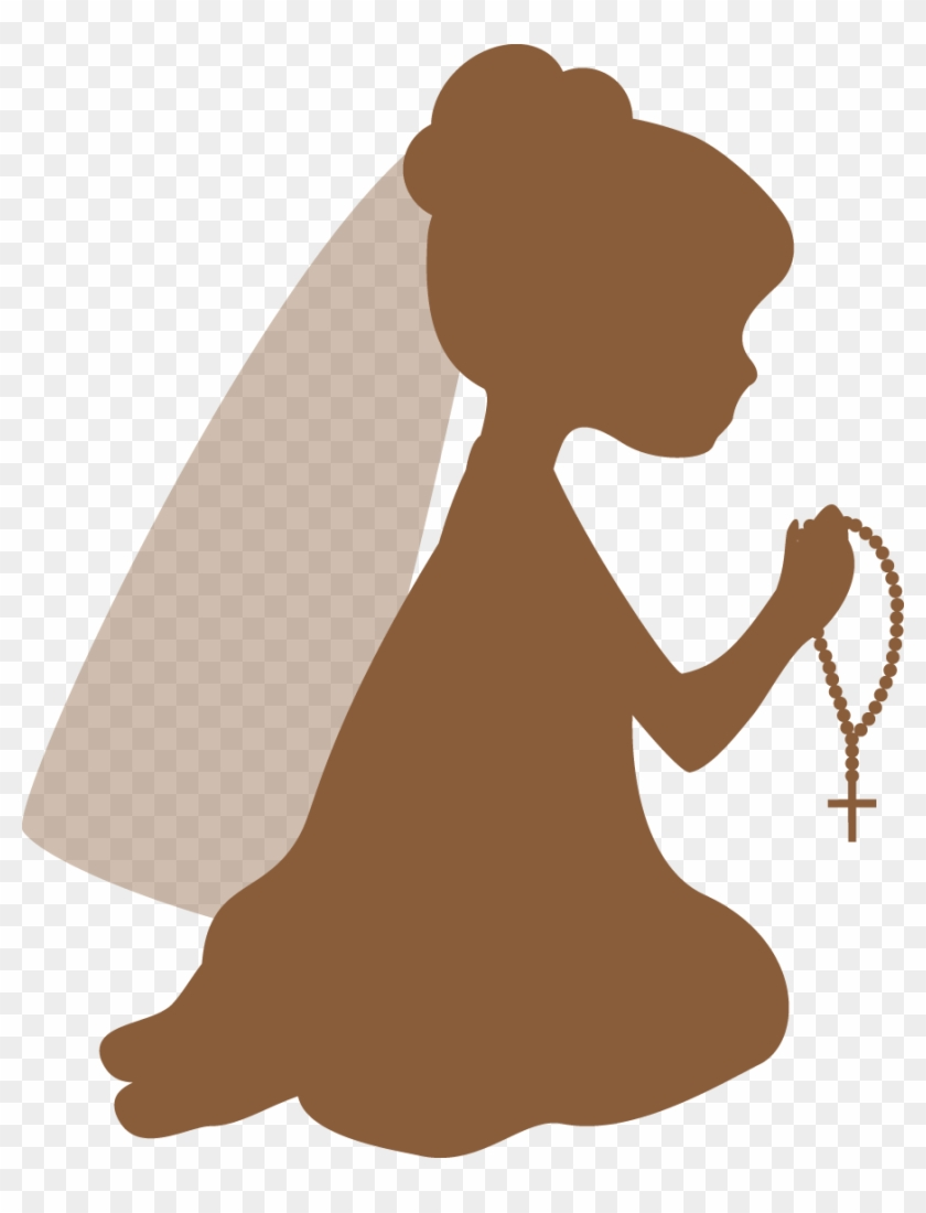 First Communion Silhouettes Firstmunion Clipart Oh - Holy Communion Girl Clipart #127785