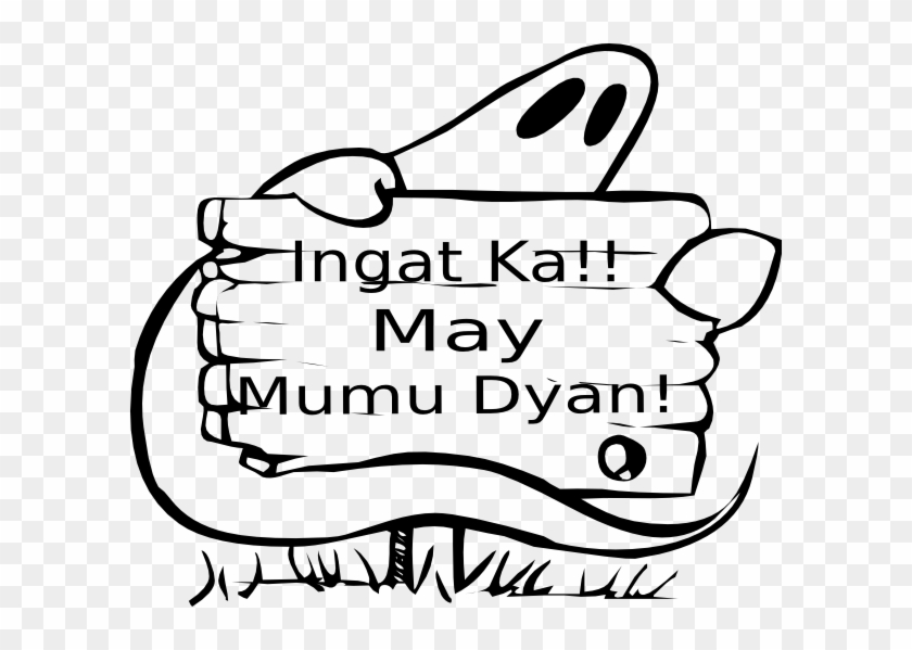 Ingat Ka May Mumu Dyan Clip Art - Black And White Halloween Name Tags Printable #127850