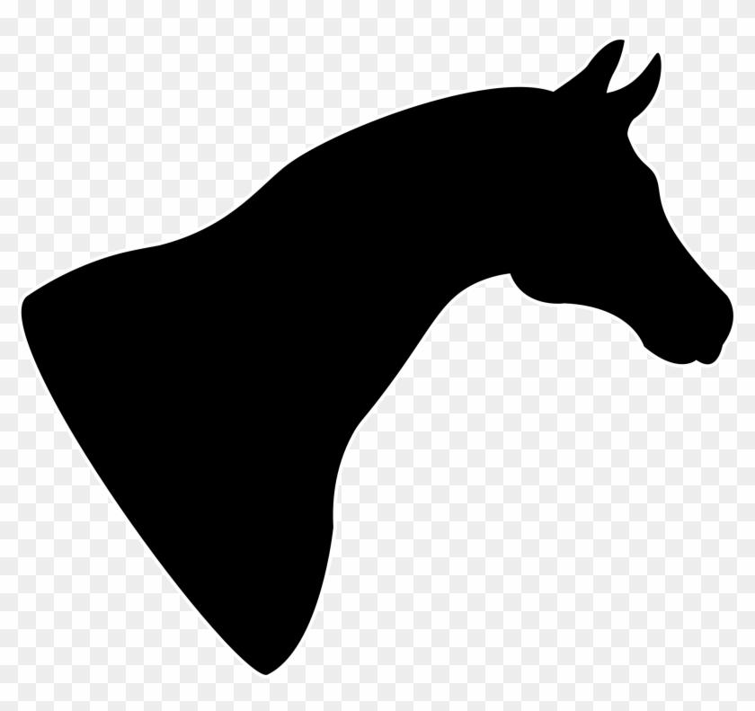 Clipart Horse Head Silhouette - Horse Head Silhouette Png #127854