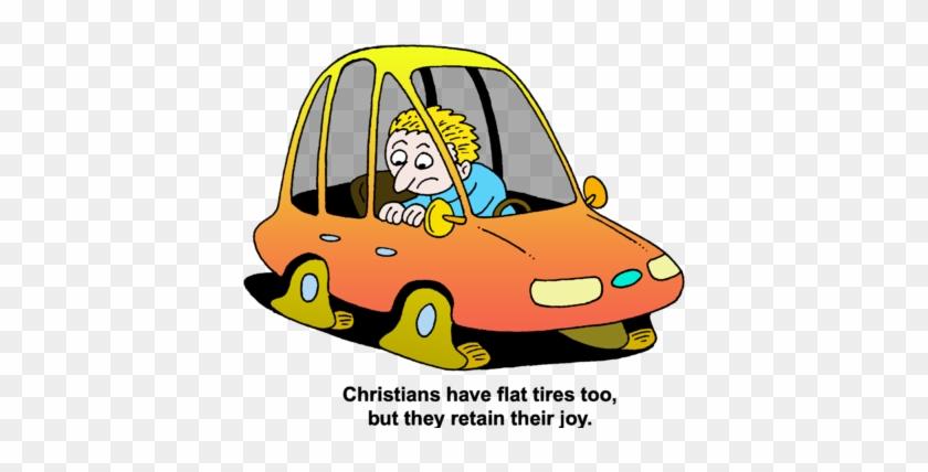 Flat Tires - Cartoon Car Flat Tire #127929