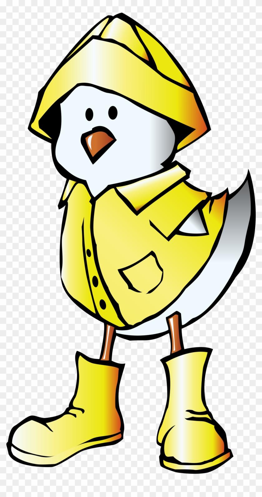 Big Image - Duck Raincoat Cartoon #128098