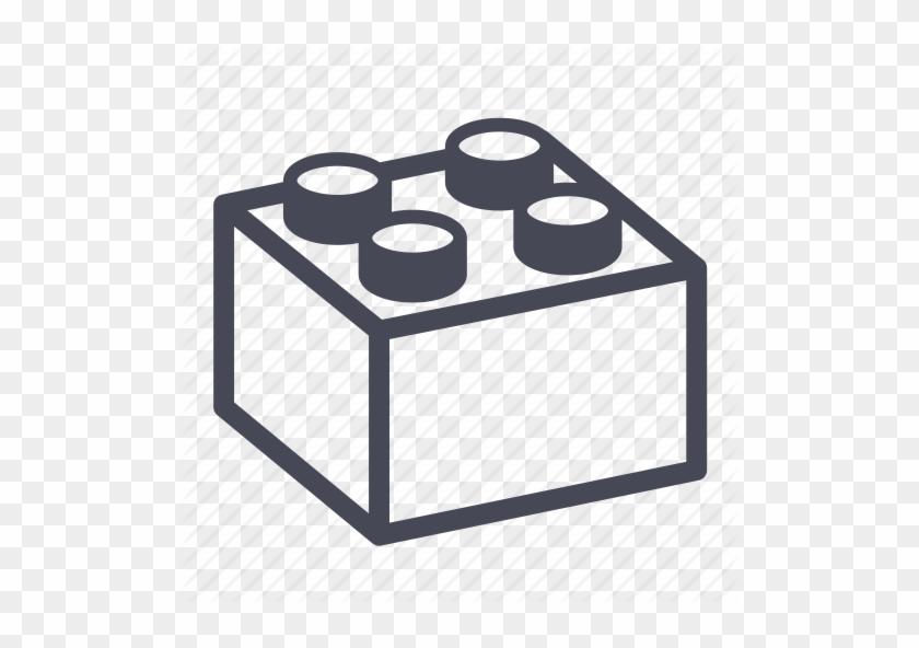 Lego Brick Clipart - Lego Brick Outline Png #128131