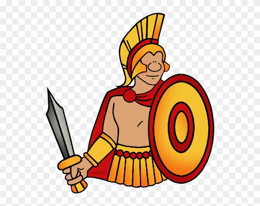 Spartan - Battle Of Troy Clip Art #128133