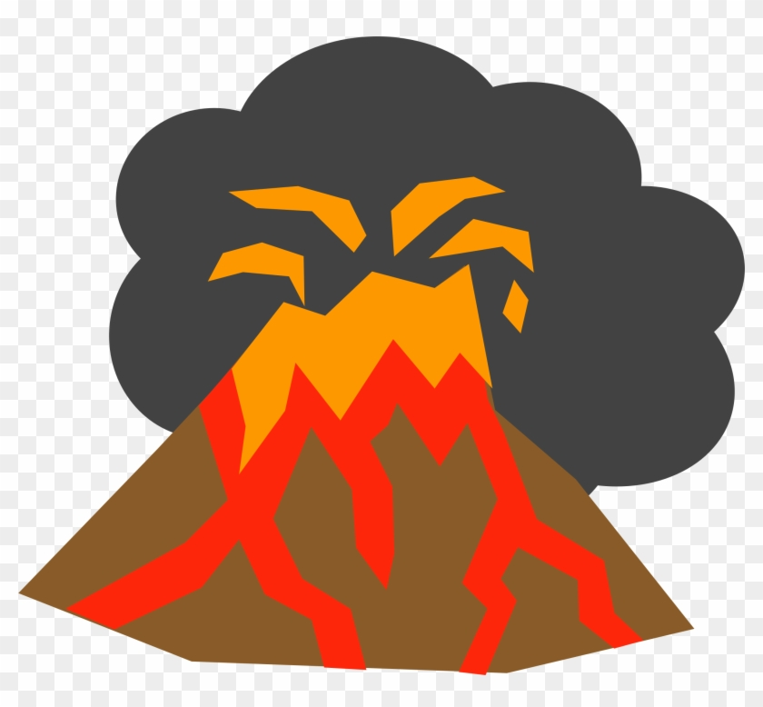 Volcano Clipart Transparent - Custom Erupting Volcano Sticker #128206