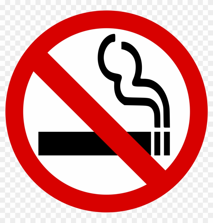 Cigarette Clipart No Smoking - No Smoking Sign Png #128215