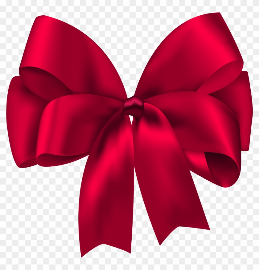Beautiful Red Bow Png Clipart - Red Bow Png #128247