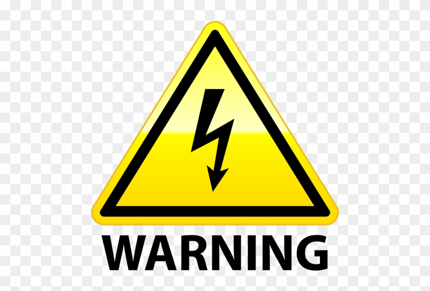 High Voltage Warning Png Clip Art - High Voltage Clipart Png #128266