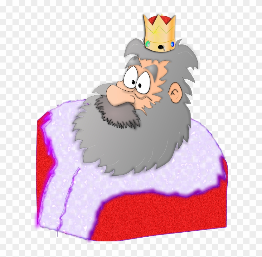 King Clipart - Santa With Crown #128291