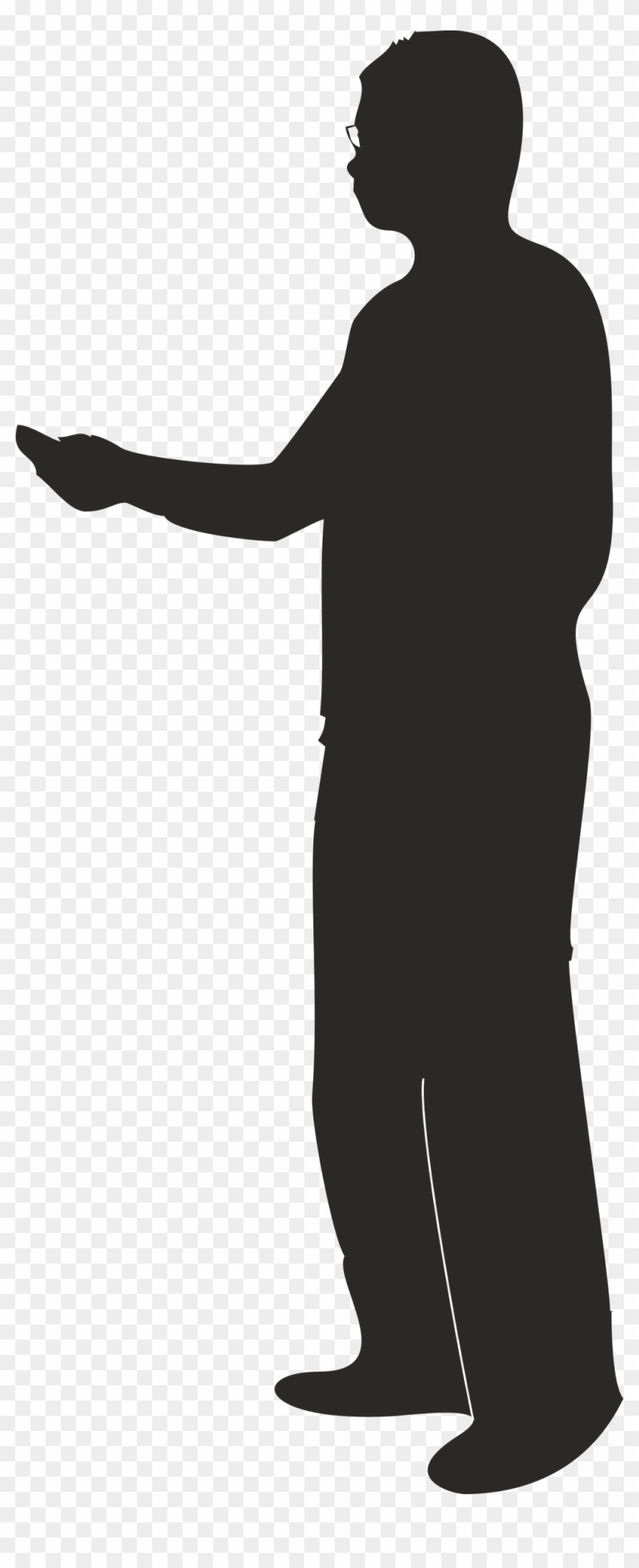 Clipart - Silhouette Person Pointing Png #128299