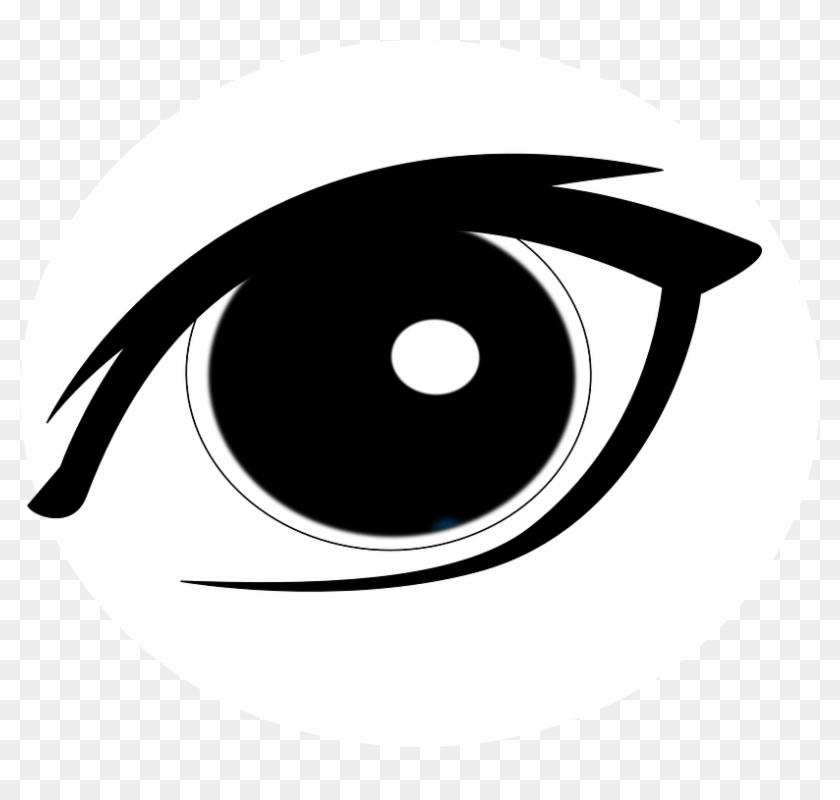 Eye Black Looking Sight Vision Beautiful Young - Eye Vector #128384