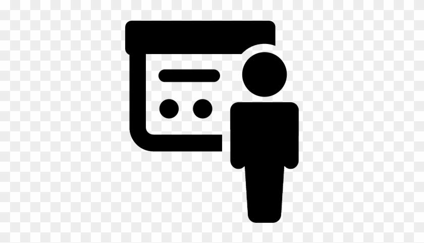 Silhouette Giving Presentation Vector - Presentation Logo Png #128421