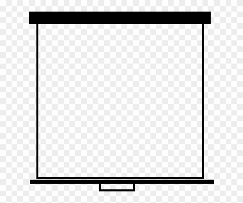 Screen, Display, Board, Presentation - Clip Art Black White Board #128424