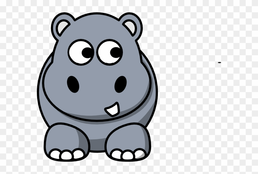 Cartoon Hippo Clipart #128457