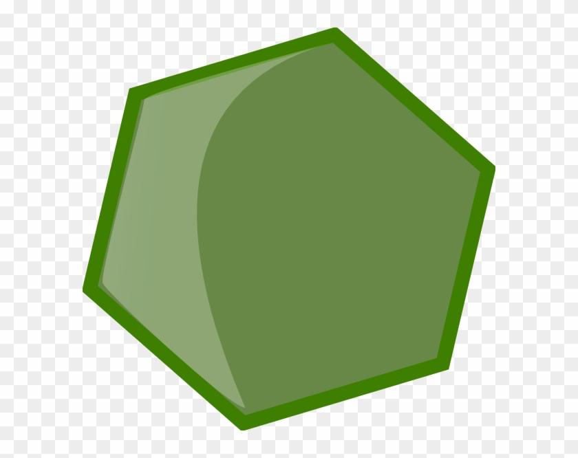 Hexagon Green Clip Art At - Green Hexagon Png #128467