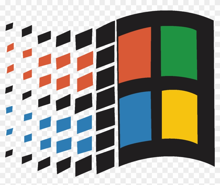 Microsoft Windows Compatible Icon - Windows 95 Logo Png #128538