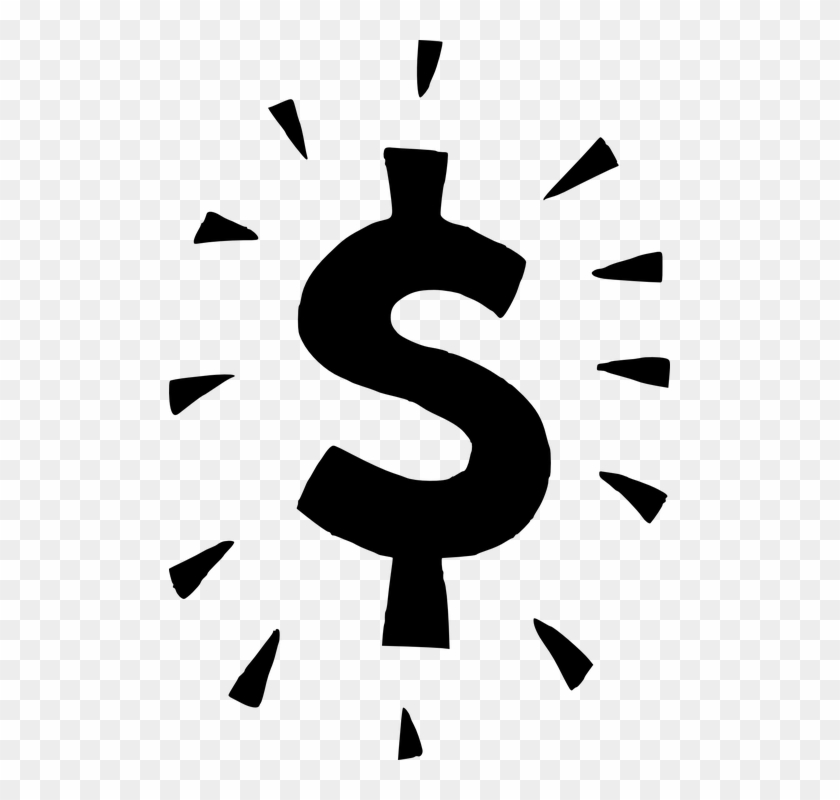 Dollar Money Finance Business Currency Payment - Black Dollar Sign Clipart #128551
