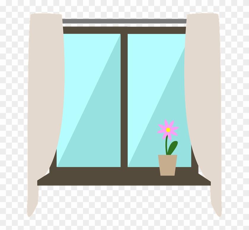 Window Inside Interior Building Glass Window Sill - Illustration #128613
