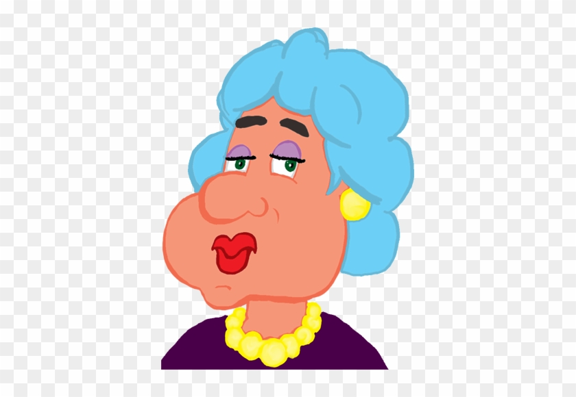 Old Lady In Pearls - Old Cartoon Png #128833