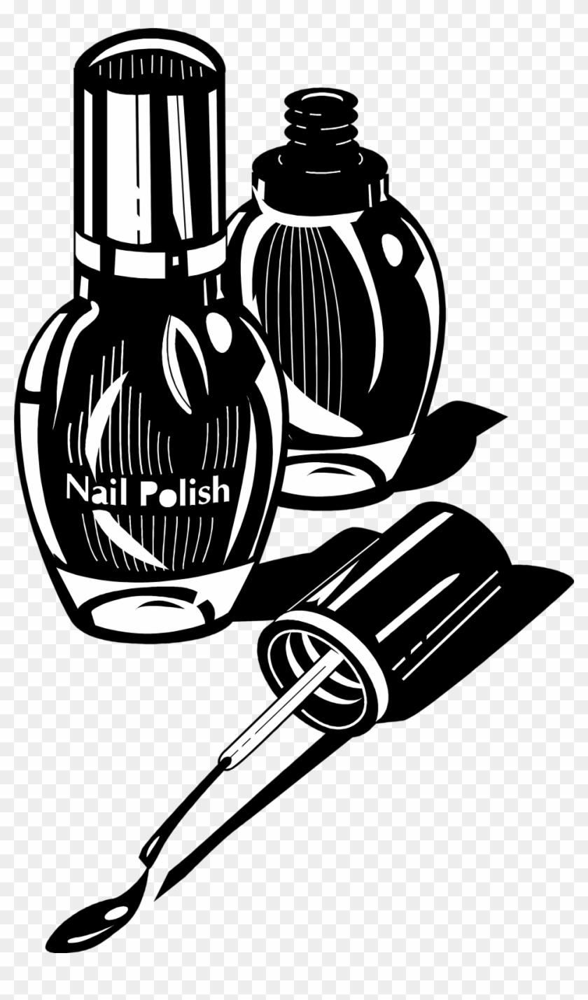 Nail Polish - Nail Polish Black And White #128904