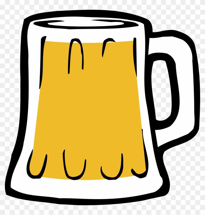 Beer Mug Clip Art Black And White - Jarra De Cerveza Vector #128983