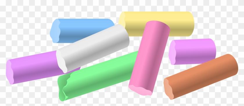Chalk Pieces Png Clip Art - Chalk Clipart #128989