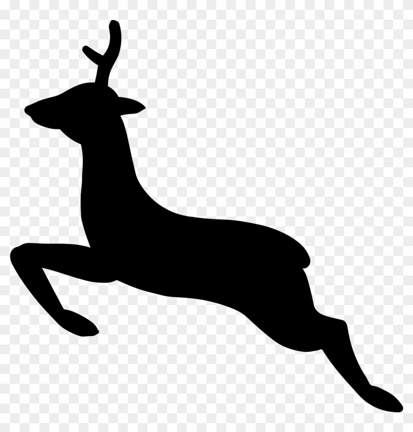 Deer Skull Clipart Free Clipart Images - Custom Jumping Deer Silhouette Shower Curtain #128995