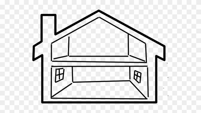 House Black And White School House Clip Art Black And - Parts Of The House Worksheet #129072