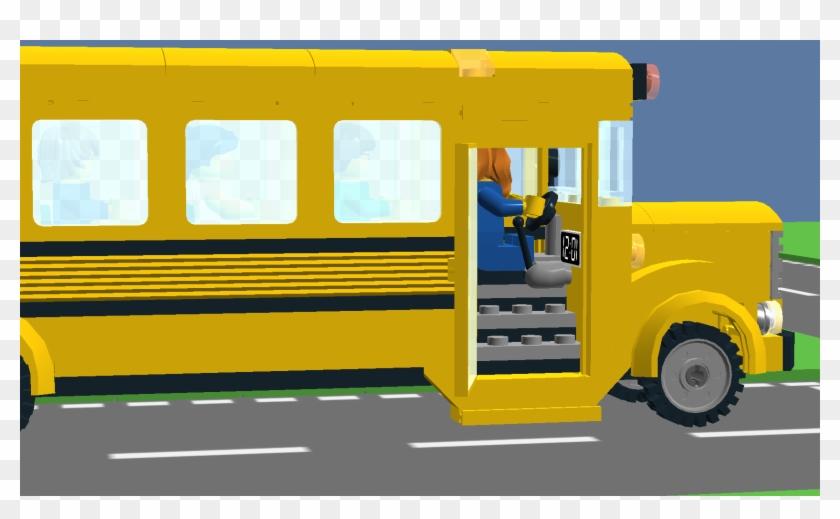 The Door Of The Bus Opens - School Bus Open Door #680507