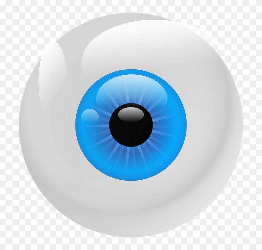 "Cartoon Eye Ball 2, Buy Clip Art - Blue Eyeball Square Sticker 3"" X 3"" #680513"