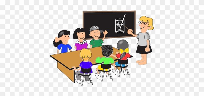Blackboard Boys Chalkboard Children Classr - Students At Desks Clipart #681215