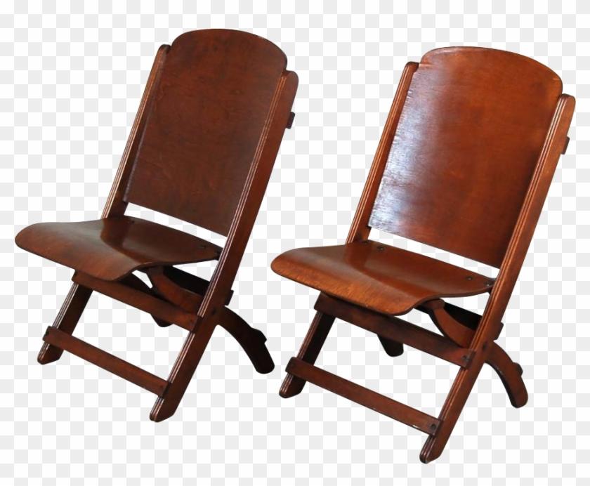 Vintage Folding Chair Nice Pair Vintage Wooden Folding - Vintage Wood Folding Chair #681499