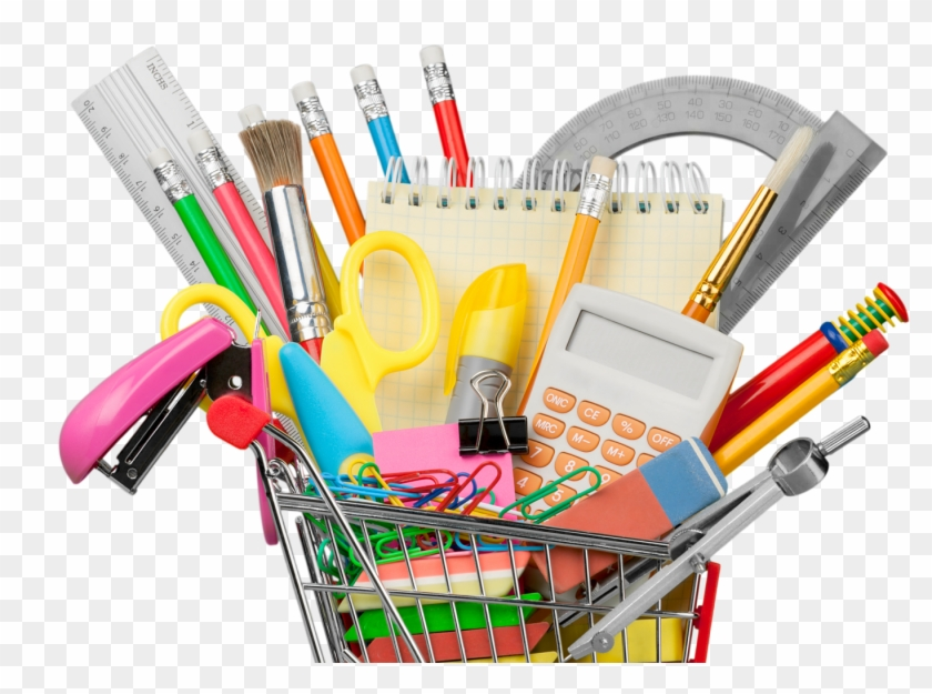 You'll Want To Take Advantage Of The Money-saving Deals - School Supplies Shopping Cart Png #682846