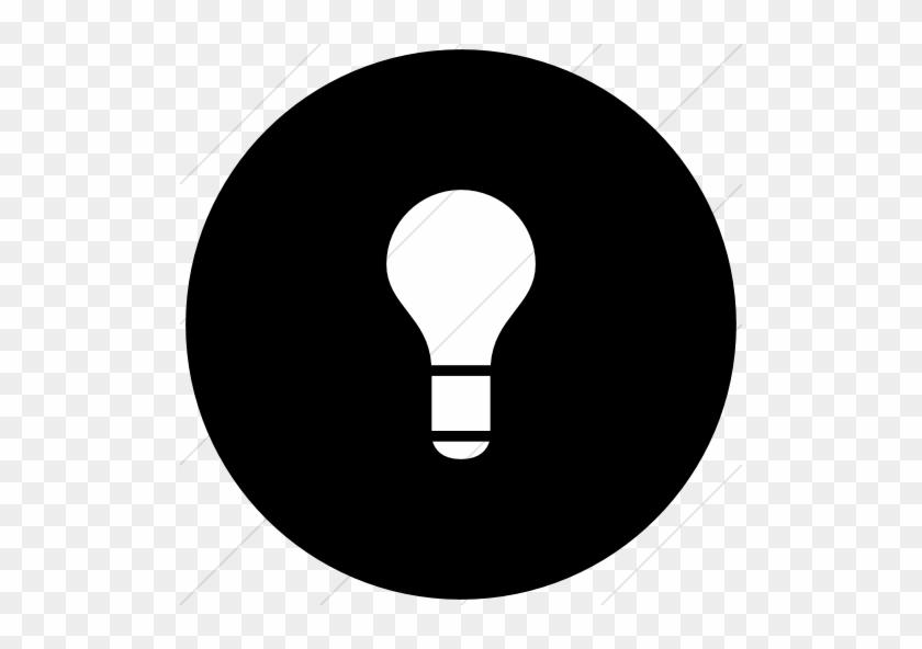 Pin Light Bulb Clipart Black And White - Light Bulb Icon Circle #682958