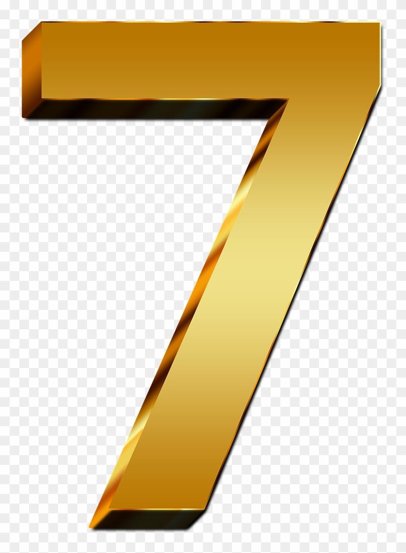 Pay Gold Seven Number Digit 3d Png Image - Transparent Background Number 7 #683795