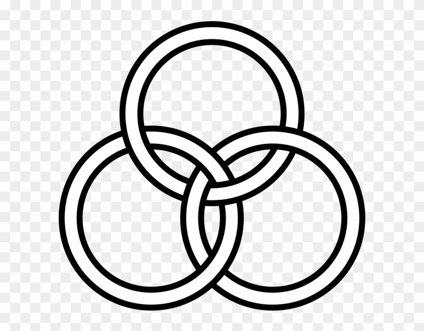 Borromean Rings Minimal Overlap - 3 Rings Joined Together #683929