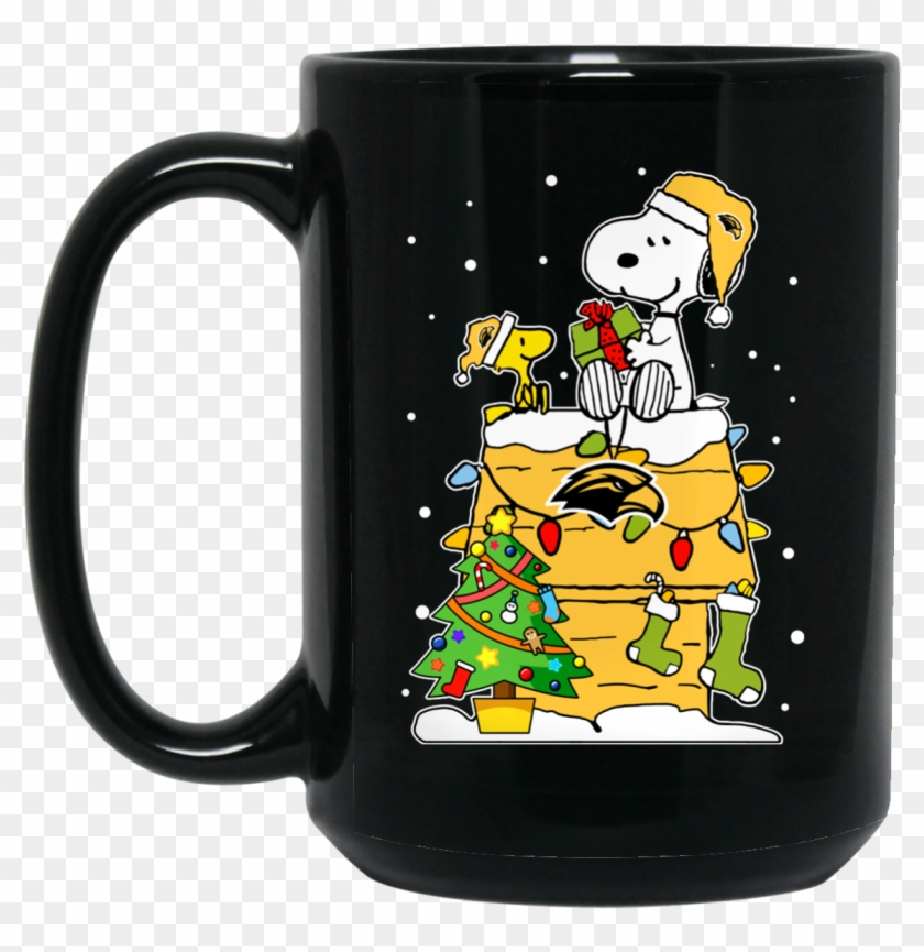 Snoopy And Woodstock Christmas Images.Southern Miss Golden Eagles Mug Christmas Snoopy Woodstock