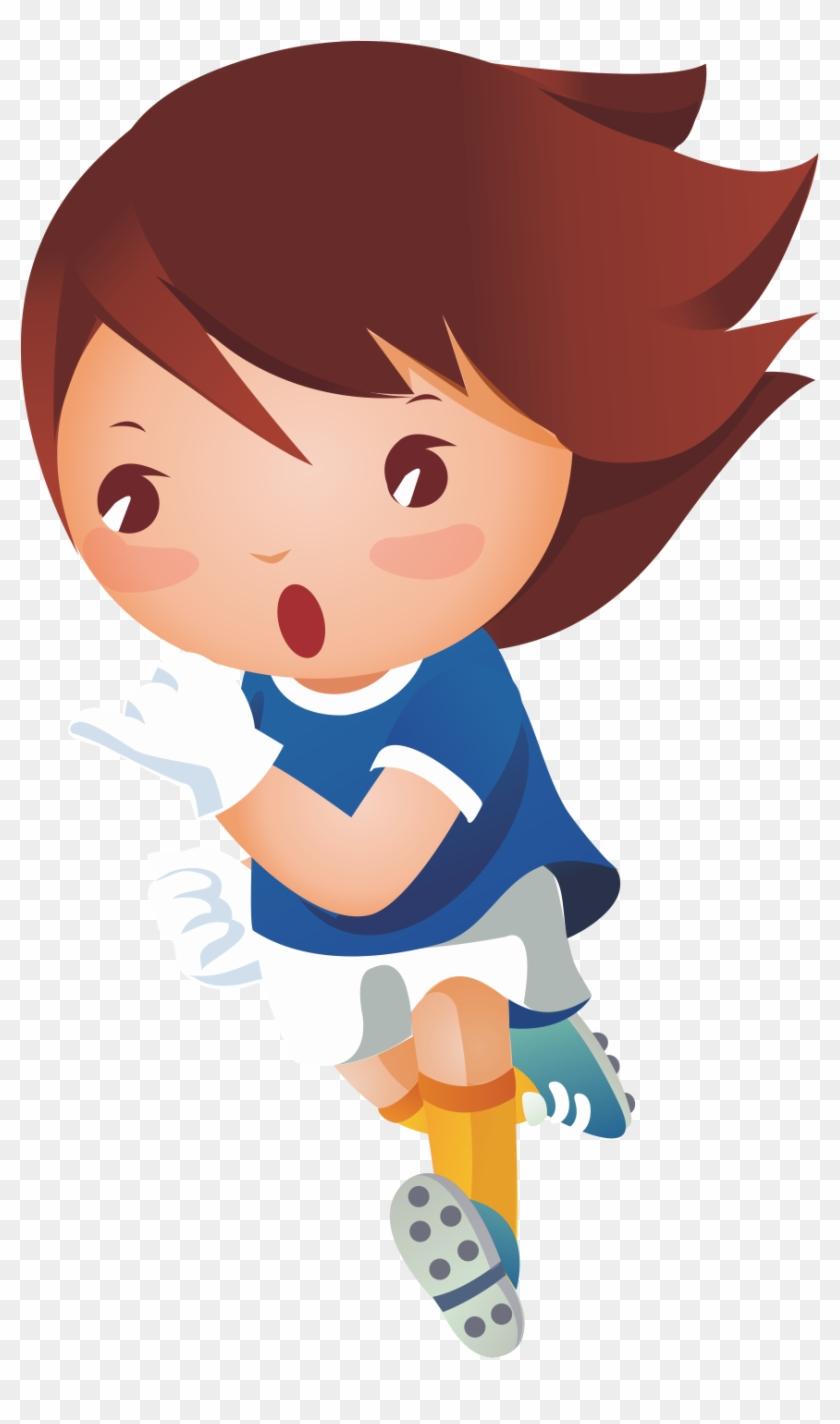 Girl Royalty-free Clip Art - Niños Corriendo Png #684929